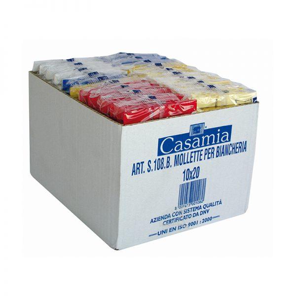 Mollette Per Biancheria Maxi Formato 10 Confezioni Da 20 pezzi